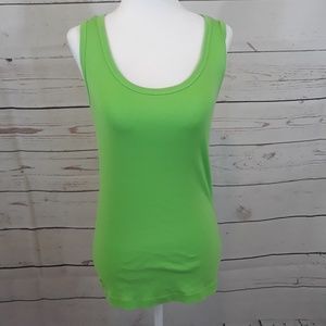 Lilly Pulitzer Pima Cotton Green Tank Top Small